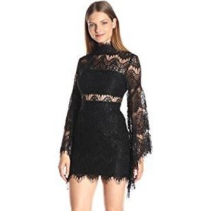 EUC Minkpink Edge of Desire Black Lace Dress